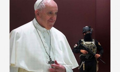 بابا-الفاتيكان-يصل-بغداد-اليوم-ويلتقي-السيستاني-غداً-وتعزيزات-أمنية-لتأمين-الزيارة