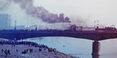 الحراك-السلمي-بريء-من-العنف-قرب-جسر-الجمهورية