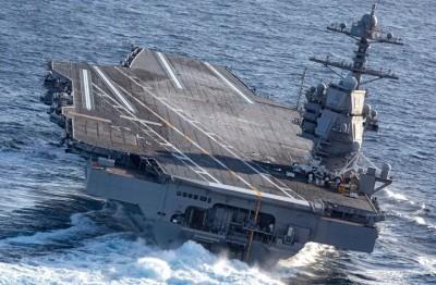 أحدث-حاملة-طائرات-أمريكية-تواجه-خطرا-كبيرا