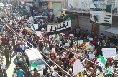 مظاهرات-شمال-سوريا-بجمعة-لا-بديل-عن-إسقاط-النظام