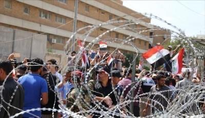 العراق-محتجون-يحاصرون-الكاظمي-للمطالبة-بكشف-قتلة-المتظاهرين