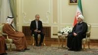 روحاني-يهدد-خلال-استقبال-وزير-خارجية-قطر-برد-صاعق-على-أميركا
