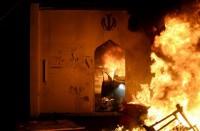 الحكومة-العراقية-تندد-بحرق-قنصلية-إيران-بالنجف-وطهران-تعلق