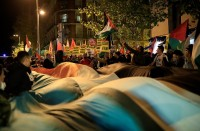 تظاهرة-بإسبانيا-أمام-السفارة-الأمريكية-تندد-بقرار-ترامب