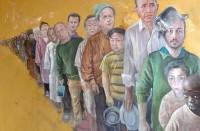 فنان-سوري-يحول-زعماء-العالم-إلى-لاجئين