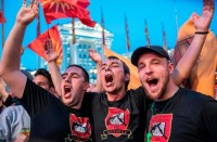 قوميو-مقدونيا-يتظاهرون-ضد-مطالب-تغيير-اسم-بلدهم