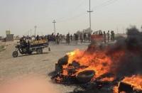 اعتصام-بالبصرة-ومحتجون-يقطعون-طريق-حقل-نفطي