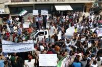 مظاهرات-بالشمال-ضد-هجوم-محتمل-للنظام-على-إدلب